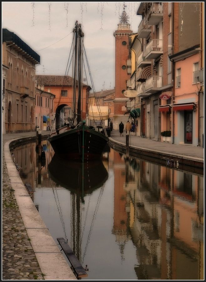 Comacchio is a town and comune of Emilia Romagna, Italy, in the province of Ferrara, 48 km from the provincial capital Ferrara.