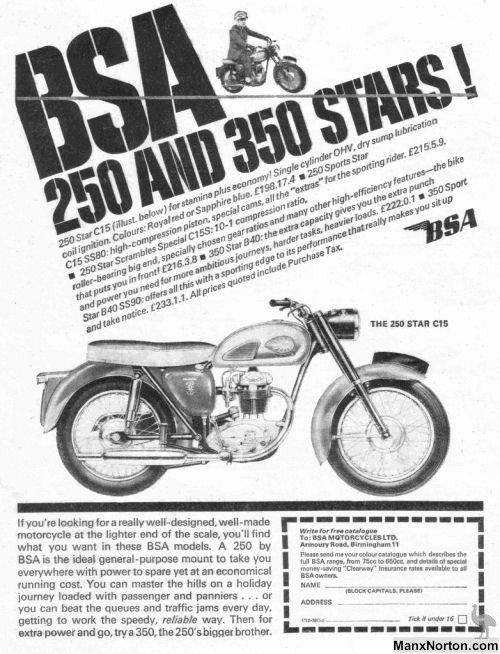 British Motorcycles of the 1960s from Birmingham Small Arms   Sheldons EMU