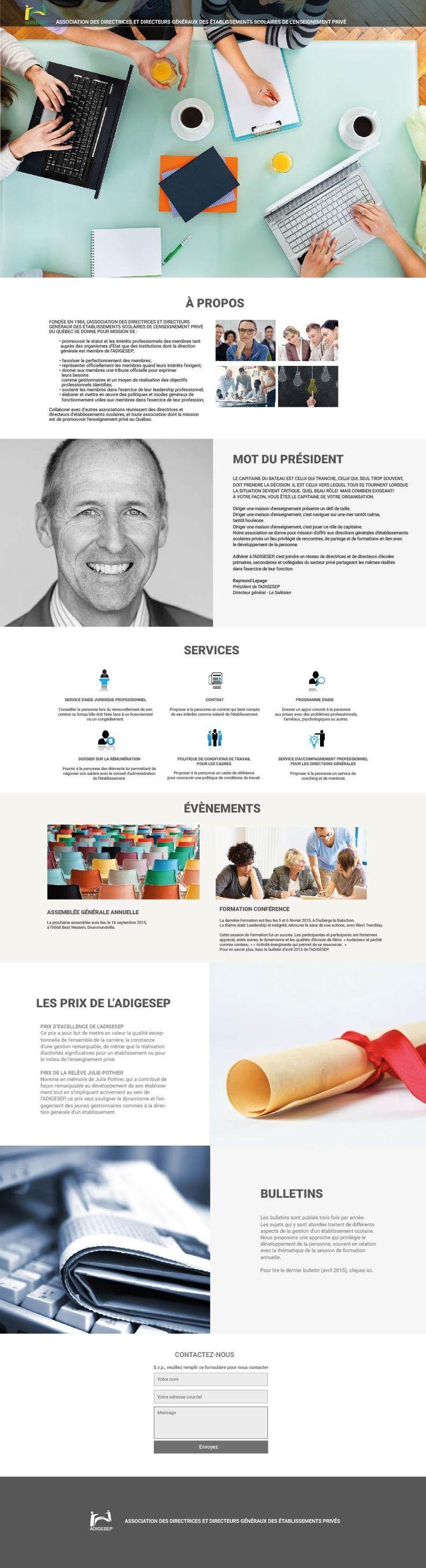 ADIGESEP Website by Maestro Communications