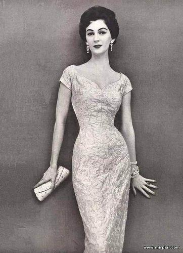 free pattern, ПЛАТЬЯ, платье-футляр, dresses, платья 50-х, мода, pattern sewing, стиль 50-х, выкройки платьев, выкройки скачать, выкройка, шитье, выкройки бесплатно, готовые выкройки