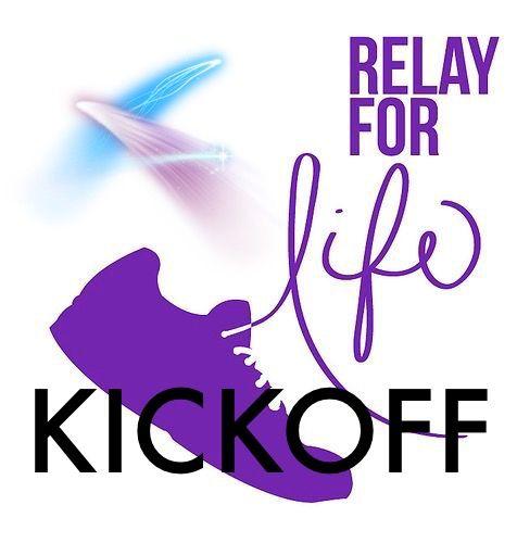 Relay For Life Kick-Off graphic for social media. #relayforlife