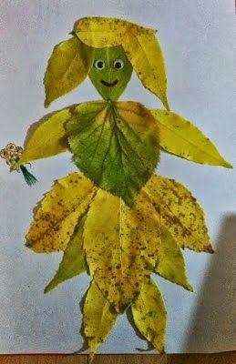 Piticot Botosani: Idei de aranjamente din frunze uscate, pentru preșcolari