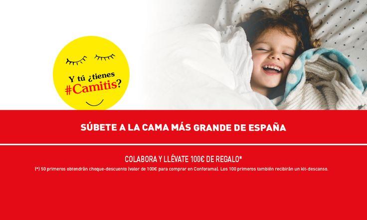 Si la #Camitis es lo tuyo, ven mañana, 7 de febrero, a nuestro centro de Alcalá de Henares y... ¡hazte una foto en la cama más grande de España! Si estás entre los 50 primeros en llegar, obtendrás un cheque de 100€. Y si llegas entre los 100 primeros, ganarás un kit de descanso. ¡Te esperamos!