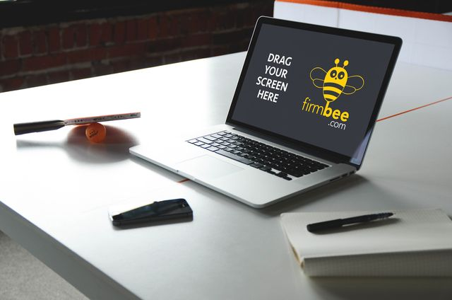 Apple devices and table tennis HD mockup #business #macbook #freelance #workspace #Laptop #Apple #PSD #iPhone #MacBook #sport #sportshall #tabletannis