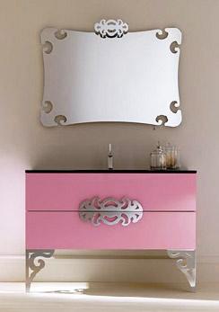 Lovely Neo Baroque Pink Bathroom Vanity