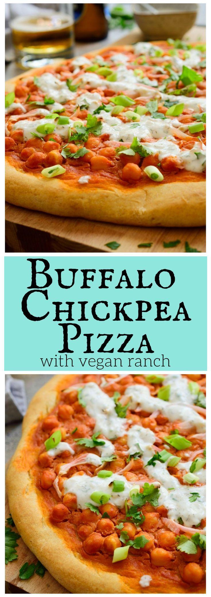 Esta pizza vegana de garbanzos y búfalos es la receta vegana definitiva de pizza ...
