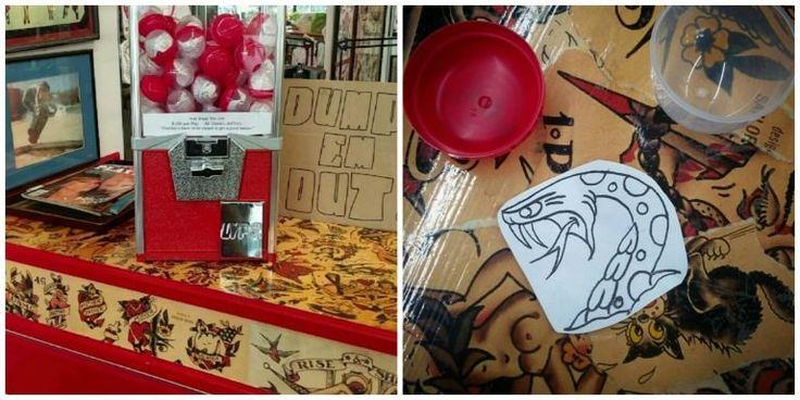 Dallas, Tx   Elm Street Tattoo   Get What You Get - A Gumball Machine for Random Tattoo Designs