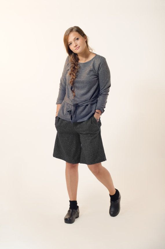 Women wool culottes pants  wool pants skirt  autumn clothing
