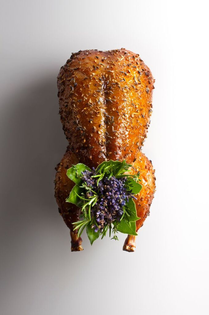 3 - ELEVEN MADISON PARK Roasted Muscovy Duck with Lavender Honey, Turnips and Figs. Elite Traveler Top 100 Restaurants in the World 2016.