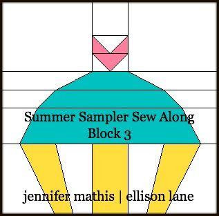 Ellison Lane : Summer Sampler Sew Along: Block 3: Cupcake!