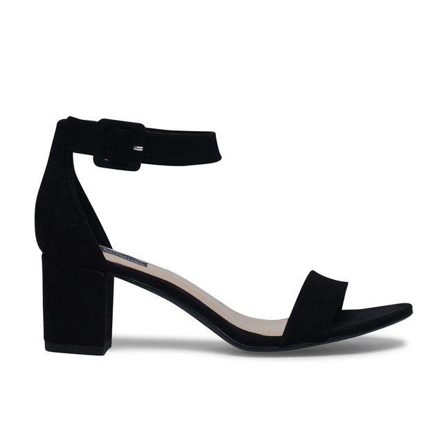 Sandales minimalistes - noir SACHA : prix, avis & notation, livraison.  Optez pour un look féminin et stylé avec ces magnifiques sandales noires. Les sandales ont un bon talon cubain de 5 cm, ce qui garantit un confort agréable. Les sandales à talon se ferment avec une bride autour de la cheville.