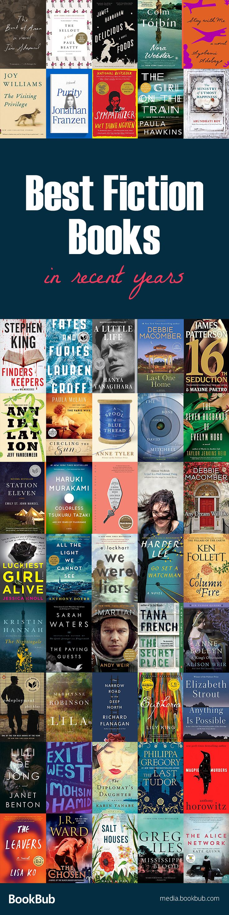 Check out our list of the best fiction books to read, including bestselling books from recent years. This list is great for women, young adults, and more, and includes many modern classics.