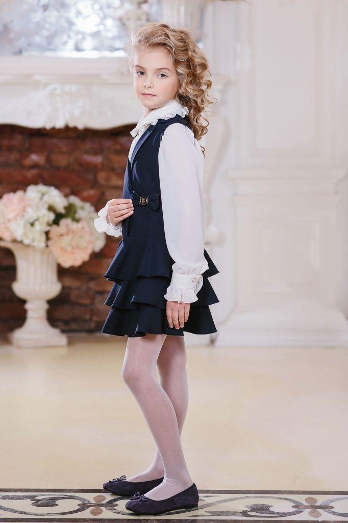 Школьный сарафан для девочки арт.153333 Синий