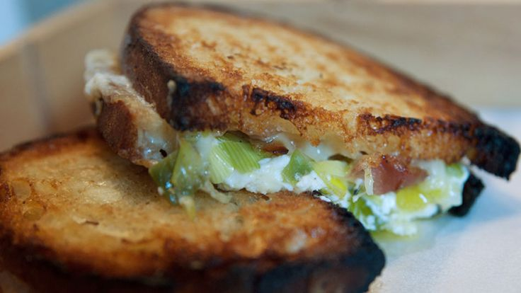 Adam Schneider based the signature dish at his New York grilled cheese restaurant Little Muenster on one of his favorite pastas. It's the sandwich equivalent of spaghetti carbonara.