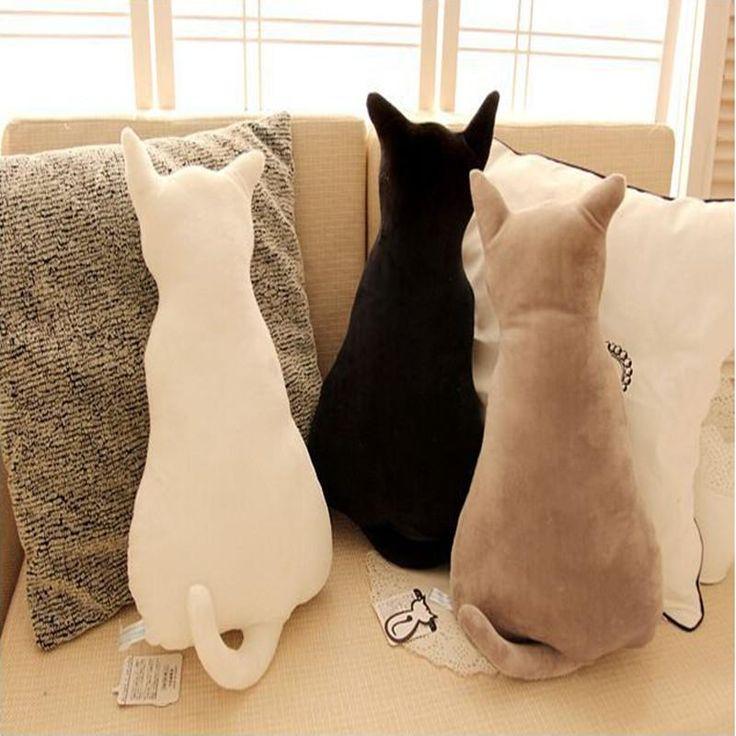 Soft Plush Cat Back Sofa Pillow Cushion