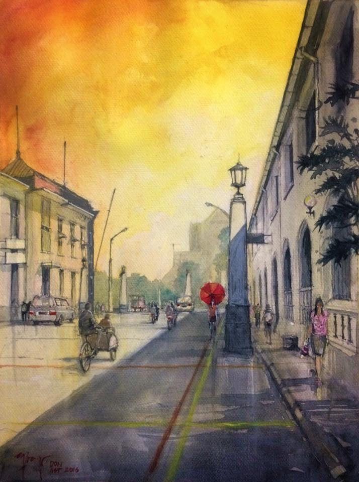 Kawasan Kota Lama Semarang #watercolor