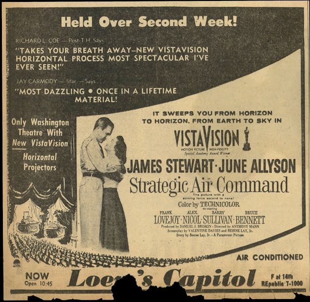 STRATEGIC AIR COMMAND (1954) - James Stewart - June Allyson - Directed by - Paramount - Newspaper Ad.