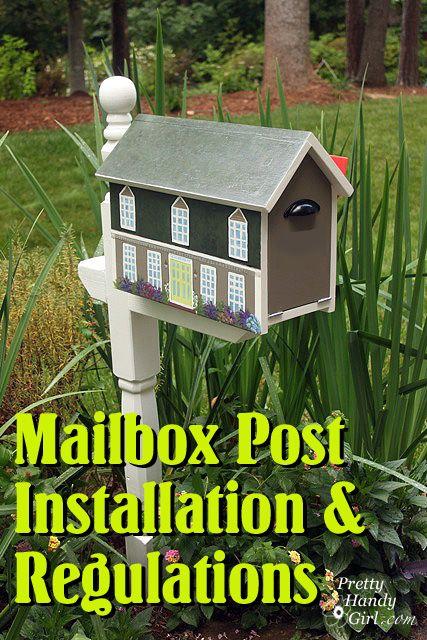 Mailbox - installation instructions & USPS regulations