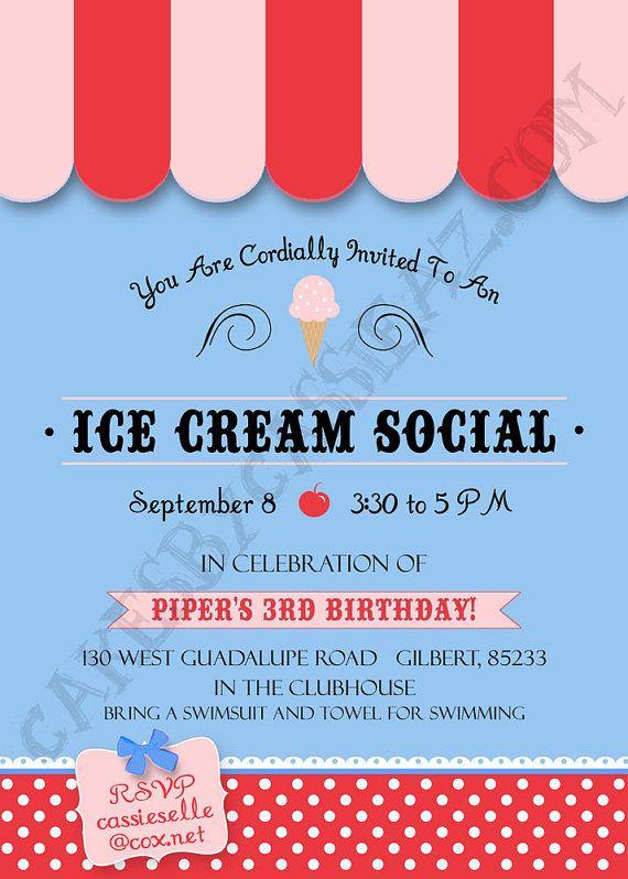 ice cream social invitation