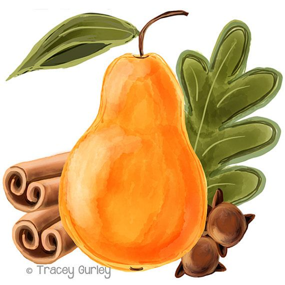 Pear and Spices  Original art download 2 by TraceyGurleyDesigns, $3.25