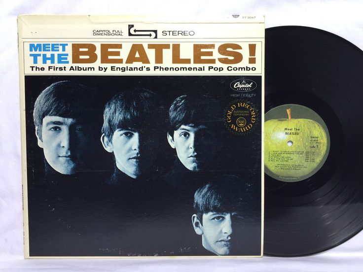 Meet The Beatles Vinyl Record Lp Stereo Apple Label St