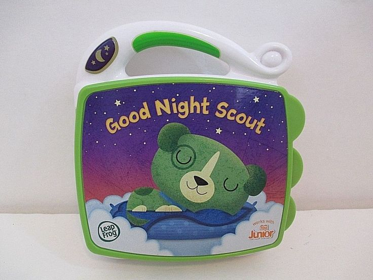 Leap Frog My First Book Good Night Scout Electronic Book Works W/Tag Jr. 6-36 Mo #LeapFrog