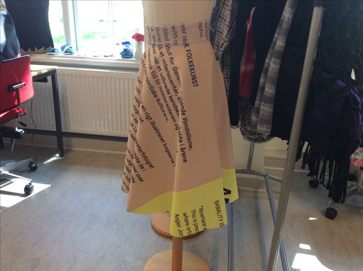 Rounded skirt made out of old banner