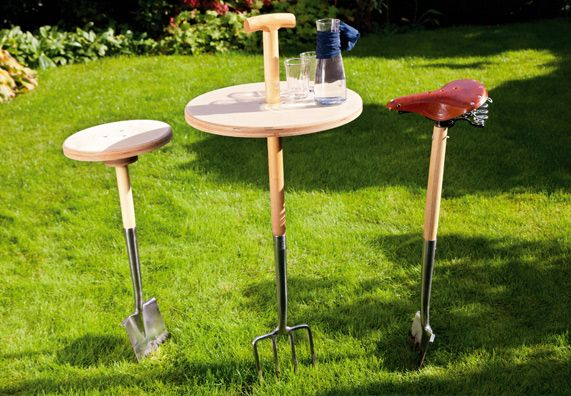 Mobile Gartenmöbel - Special movable Table and seats - step by step tutorial - Bildanleitung