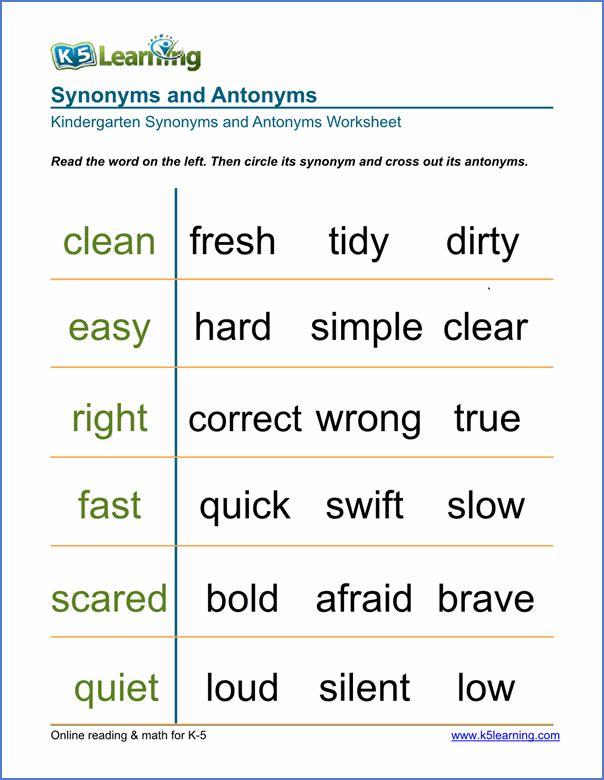 free worksheets for multiple grade levels   Synonym worksheet. Synonyms. antonyms. 1st grade worksheets