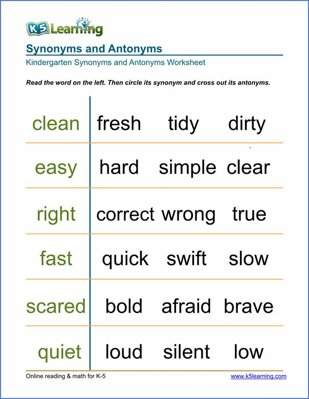 This is a photo of Gorgeous Synonyms and Antonyms Printable Games