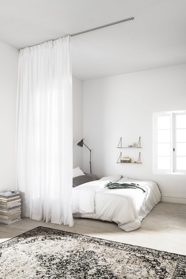 inspiration   Deco petit appartement, Rideaux chambre à coucher ...