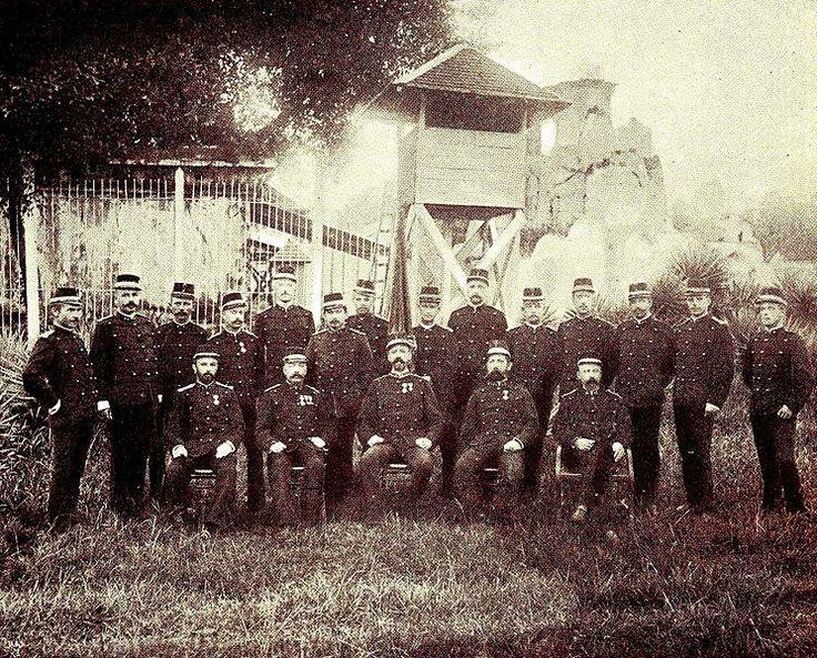 Perwira Batalyon IX tentara Belanda yang bertugas di Aceh, tahun 1900