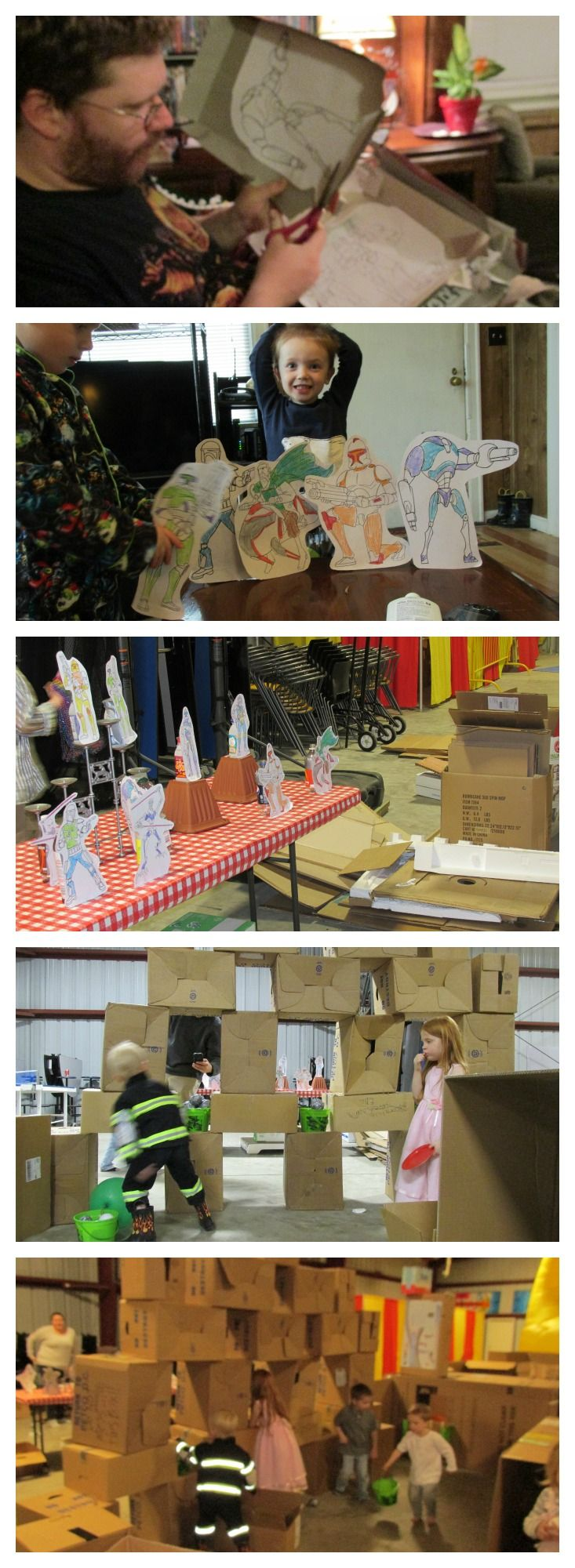 9 best Cardboard Castle Birthday Party images on Pinterest ...