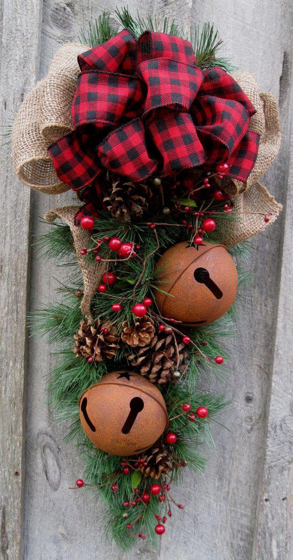 Christmas Swag Holiday Door Wreath Sleigh by NewEnglandWreath, $139.00