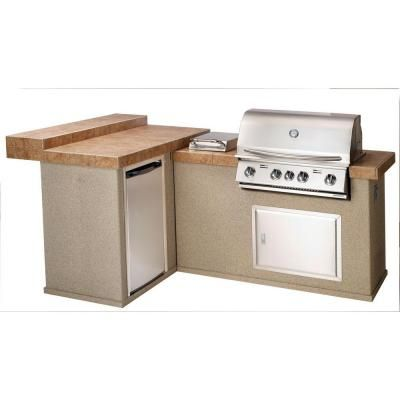 Bull Outdoor Products Moab Outdoor Kitchen With Built In Stainless Steel Natural Gas Grill Moab Odk At The Home Depot