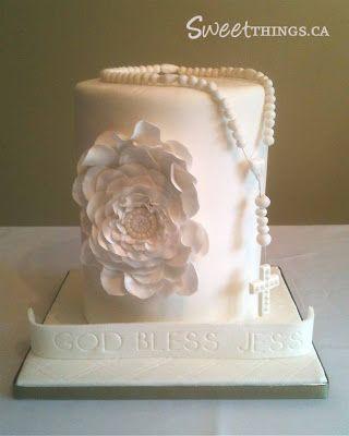 SweetThings: Chic 1st Communion Cake