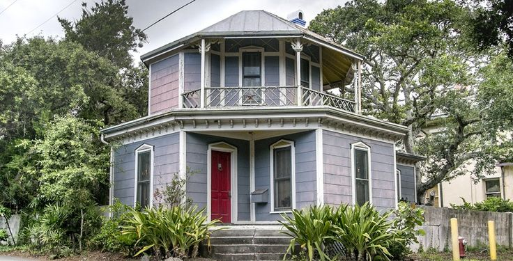 Historic Architectural Home inspired by Orson Fowler's book, Eligible for the NRHP, Zoned for Residential & Vacation Rentals. Located on Anastasia Island in St. Augustine, Florida. The 4th house from the iconic Lighthouse, a block from water access at Salt Run, minutes from downtown and beaches.