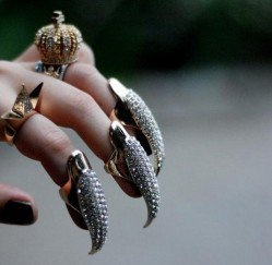 Eagle Nail Fashion Statement Ring | LilyFair Jewelry Halloween