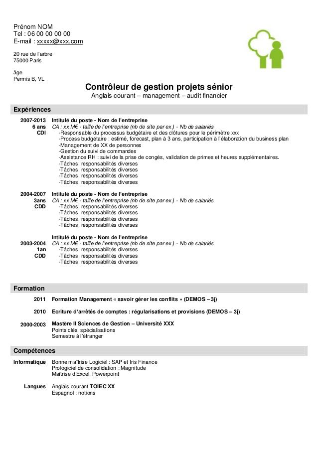 exemple cv avec permis b