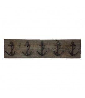 Crochets en métal sur planche ANCHOR