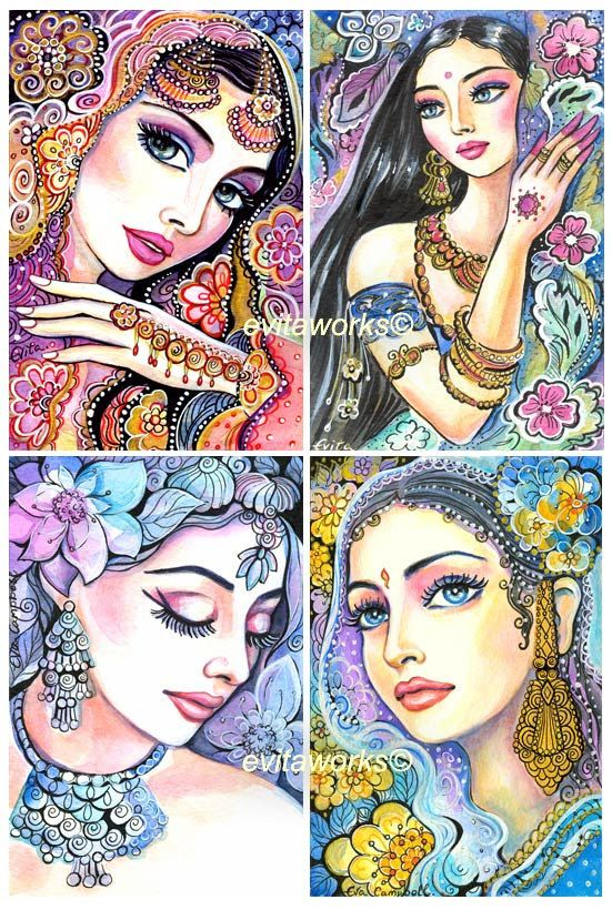 Glamorous India Woman Fashion Jewelry Face Set of by evitaworks, $14.99