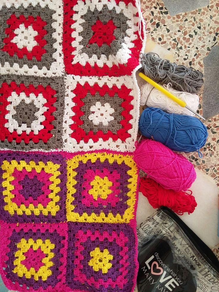 New blanket - I love crocheting! :)