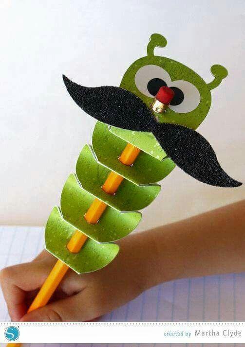 Décoration de crayon en papier