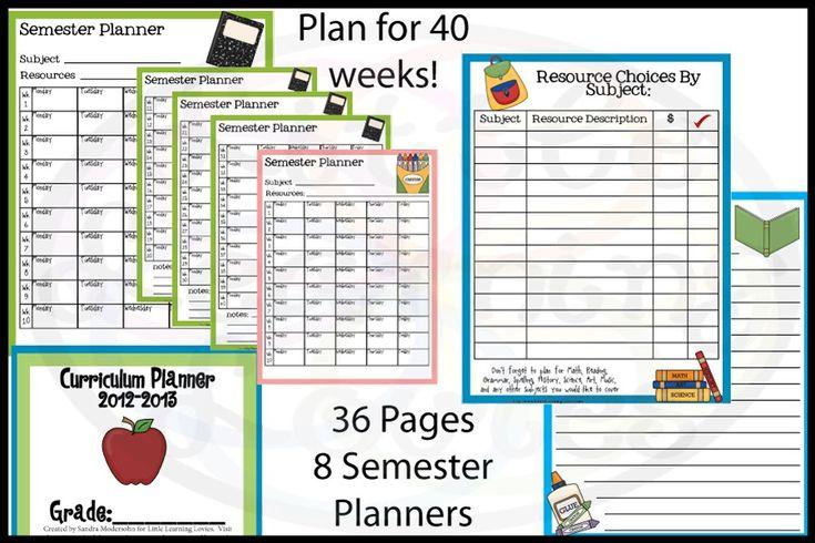 Extra Freebie–Curriculum Planner - Little Learning Lovies