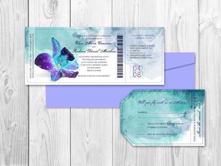 Summer Destination Wedding Invitation Set By DesignedWithAmore