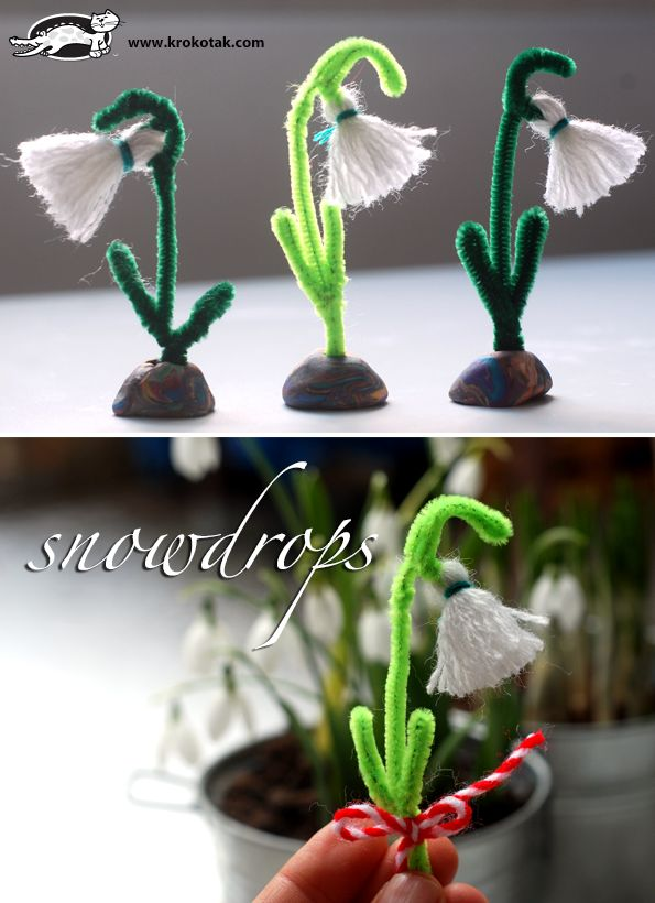 A Snowdrop from Thread Can't wait to see these for real way to much snow and ice this year!