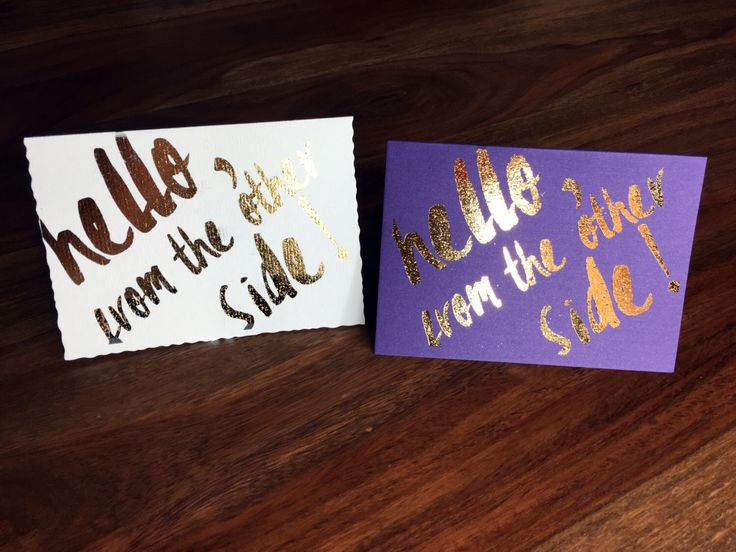 Cosmetics Hello Cards A5 format, Metallic Purple or Cream colored card, metallic foil effect, Younique Inspired  cards A5 format by DesignShopAS on Etsy https://www.etsy.com/listing/272274816/cosmetics-hello-cards-a5-format-metallic