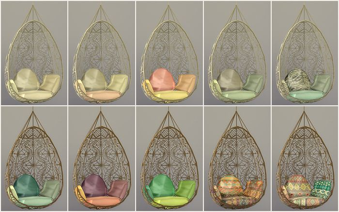 Okay, I've got some recolors here of the Wonderfully Woven Hanging Chair converted from TS3 by mrsimplelukkas. and I thought you guys could test it for me. It should be standalone but it just feels...