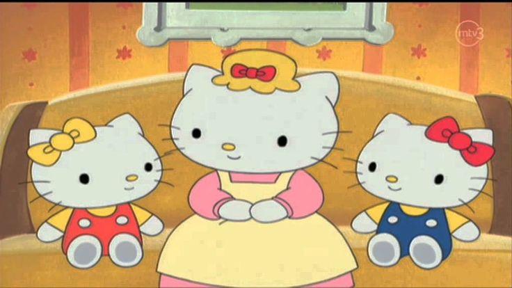 Hello Kitty Puhun Puhelimessa