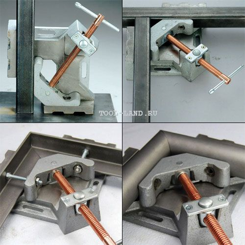 Using corner clamps Strong Hand Tools